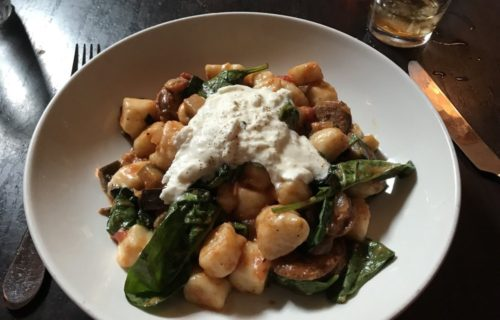 pecorino and potato gnocchi - pic by John T. on Yelp - Outdoor Dining at The Liberty Tavern
